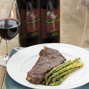 dry red wine, steak and wine pairings tassel ridge winery