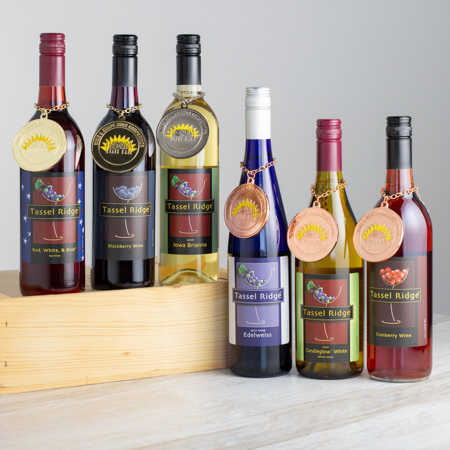 blackberry wine, award winning iowa wines